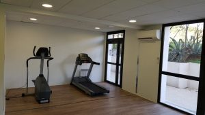 Dans la salle de fitness de l'Université de Perpignan 2
